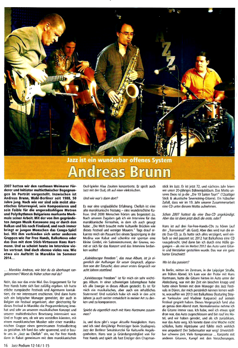 Jazzpodium Interview Andreas Brunn